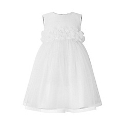Monsoon - White baby 'Roseanna' dress