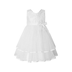 Monsoon - White baby 'Gianna' butterfly dress