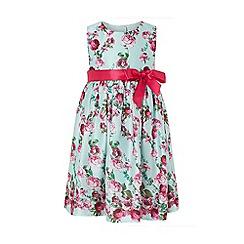 Monsoon - Green Baby 'Rosa' Print Dress