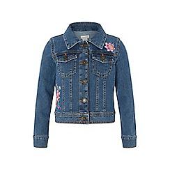 Monsoon - Blue 'Farrah' flamingo denim jacket