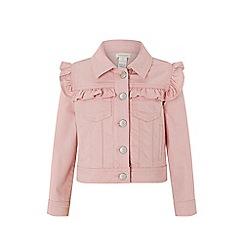 Monsoon - Pink 'Piera' ruffle twill jacket