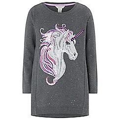 Monsoon - Grey uki unicorn sweat dress