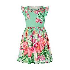 Monsoon - Green 'Farrah' Flower Dress