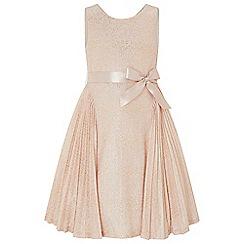 Monsoon - Gold gilded 'Rose' pleat dress