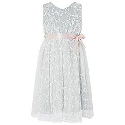 Monsoon - Girls Grey 'Rosalie' dress