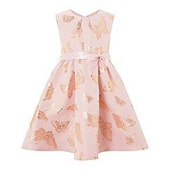 Monsoon - Girls Pink 'Nora' butterfly dress