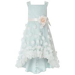 Monsoon - Girls Light blue 'Ethereal' flower hi low dress