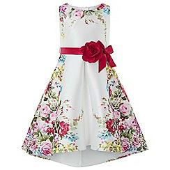 Monsoon - Girls White 'Calypso' rose print dress