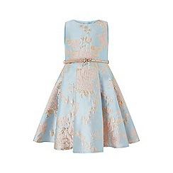 Monsoon - Blue 'Cordella' jacquard dress