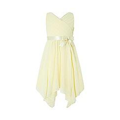 Monsoon - Yellow 'Cordelia' cross over bodice dress