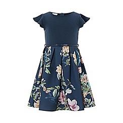 Monsoon - Blue 'Yumiko' 2 in 1 dress