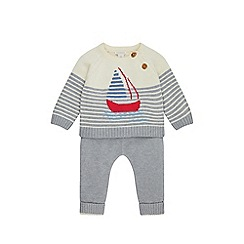 Monsoon - Grey 'george' knitted boat set