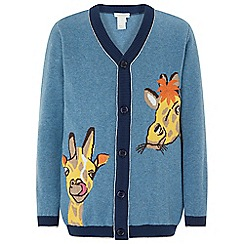 Monsoon - Blue 'Mason' giraffe cardigan