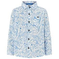 Monsoon - White 'Daniel' doodle long-sleeve shirt