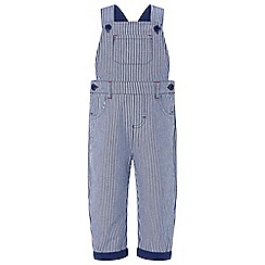 Monsoon - Blue 'Tommy' ticking stripe dungaree