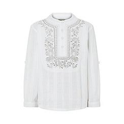 Monsoon - White 'Kabir kurta' shirt