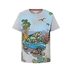 Monsoon - Grey 'maximus' dinosaur scene t-shirt