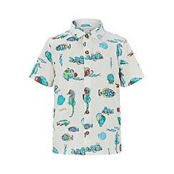 Monsoon - White 'kaspian' stripe fish ls shirt