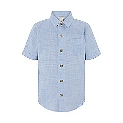 Monsoon - Blue 'Stan' Stripe Short-Sleeve Shirt