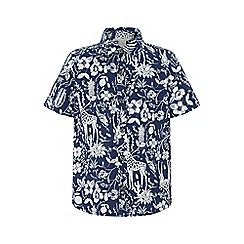 Monsoon - Blue 'Lucia' Print Short Sleeve Shirt