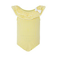 Monsoon - Yellow baby sunflower bow swimsuit