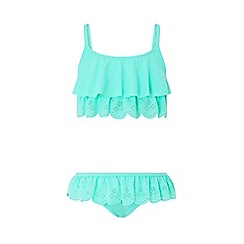Monsoon - Blue 'Sallie' scallop bikini