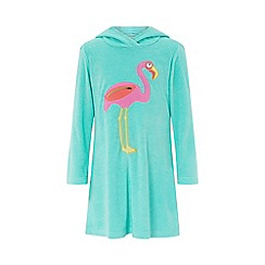 Monsoon - Blue 'Finessa' flamingo towelling