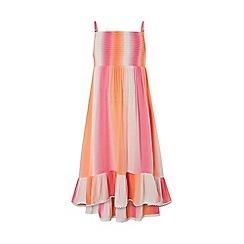 Monsoon - Pink Tie Dye Dip Hem Maxi