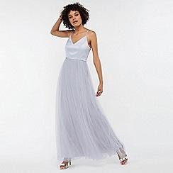 Monsoon - Blue 'Hollyanne' satin bodice skirt maxi dress