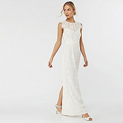 Monsoon - Ivory 'Leomie' lace maxi dress