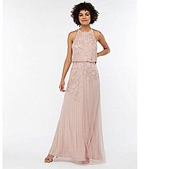 Monsoon - Pink 'Bianca' embellished maxi dress