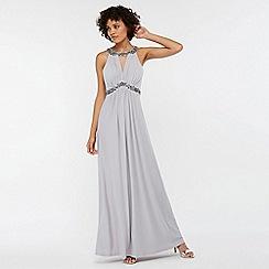 Monsoon - Silver 'Isabeli' embellished maxi dress