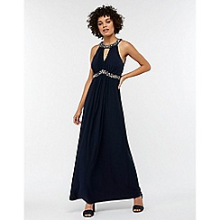 Monsoon - Blue 'Isabeli' embellished maxi dress
