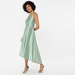 Monsoon - Green 'Sara' fit & flare satin dress