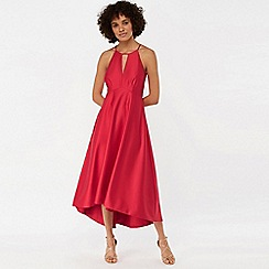 Monsoon - Pink 'Sara' fit & flare satin dress