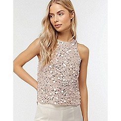Monsoon - Pink 'Devon' sequin sleeveless top