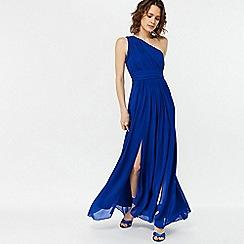 Monsoon - Blue 'Dani' one shoulder maxi dress