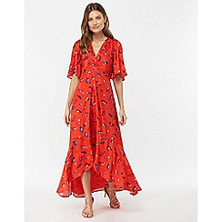 Monsoon - Red 'Natalie' print midi dress