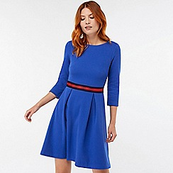 Monsoon - Blue 'Bea' textured midi dress