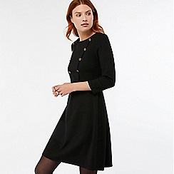 Monsoon - Black 'Marie' short ponte dress