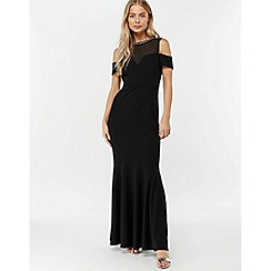 Monsoon - Black 'Matilda' crepe trim maxi dress