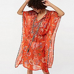 Monsoon - Orange 'Adita' printed wow kaftan