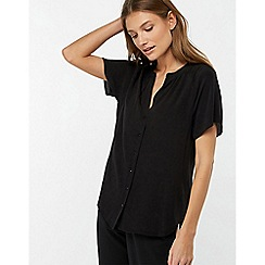 Monsoon - Black 'Zinnia' short sleeve blouse