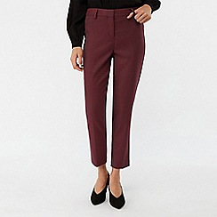 Monsoon - Red 'Frankie' fabric interest trousers