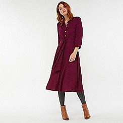 Monsoon - Purple 'Logan' berry tie front dress