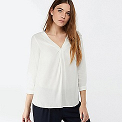 Monsoon - Ivory 'Salvina' twist front blouse