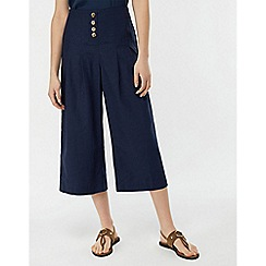 Monsoon - Blue 'Becky' Button Front Culottes
