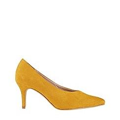 Monsoon - Yellow 'Heidi' high vamp court shoes