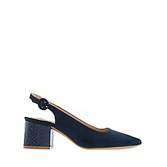Monsoon - Blue 'Sammy' sling block point shoes