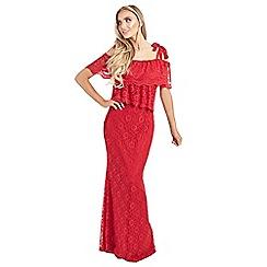 Sistaglam Love Jessica - Red 'hazel' maxi dress